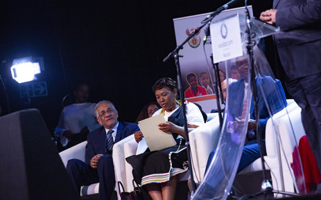 FILE:  Minister of basic education Angie Motshekga announces the national matric 2018 results. Picture: Kayleen Morgan/EWN.