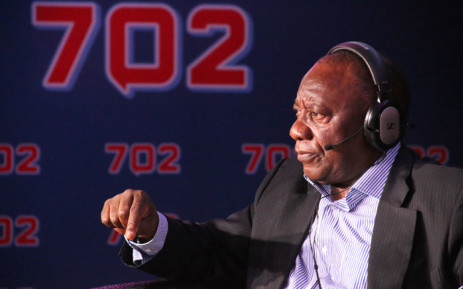 Deputy President Cyril Ramaphosa. Picture: Radio 702.