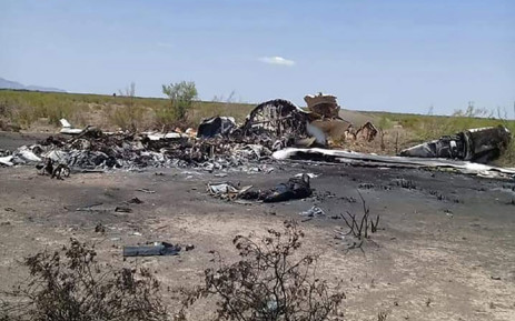 Handout picture released by Mexico's Civil Protection showing the wreckage of a private jet found on 6 May 2019 in Ocampo, Coahuila State, in northern Mexico, a day after it disappeared while flying from Las Vegas in the US to Monterrey in Mexico. Picture: AFP