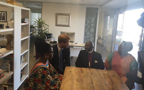 British royal, Prince Harry has conferred the 'Companions of Honour' on Archbishop Emeritus Desmond Tutu. The royal is in Cape Town as part of a four-day tour of South Africa. Picture: Natalie Malgas/EWN.