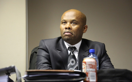 Gauteng Hawks boss Shadrack Sibiya at a disciplinary hearing which started in Pretoria on 10 June 2015. Picture: Reinart Toerien/EWN.