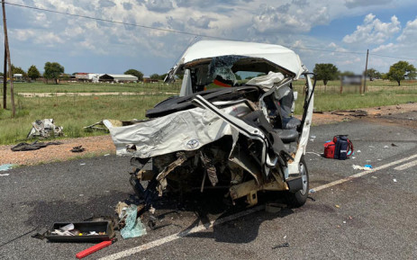 The scene of an accident near Potchefstroom on 21 December 2019. Picture: @ER24EMS/Twitter
