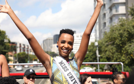 Miss Universe Zozibini Tunzi on her homecoming tour in Johannesburg on 13 February 2020. Picture: Abigail Javier/EWN