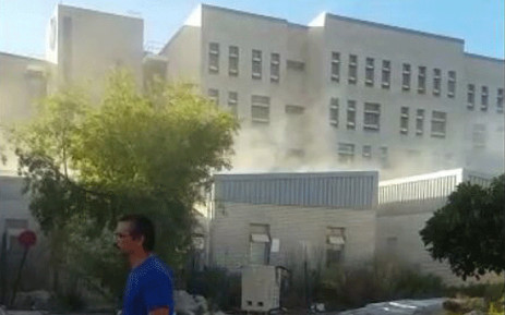 A fire broke out at the Mitchells Plain District Hospital on Saturday, 10 February 2018. Picture: Supplied.