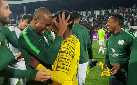 Bafana Banafa players celebrate after qualifying for the Afcon 2019. Picture: @BafanaBafana/Twitter.