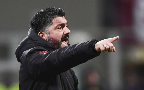 AC Milan's Italian coach Gennaro Gattuso gestures during the Italian Serie A football match between AC Milan and Torino on 9 December 2018 at the San Siro Stadium in Milan. Picture: AFP
