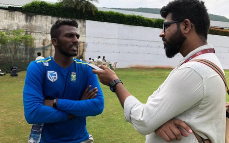 New Proteas all-rounder Senuran Muthusamy (L). Picture: Cricket South Africa/Facebook.