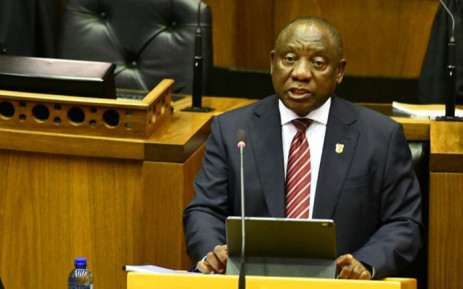 President Cyril Ramaphosa addresses a joint sitting of Parliament on 15 October 2020. Picture: @PresidencyZA/Twitter