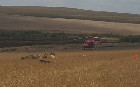 A 57-year-old businessman, Kobus Dicks, was killed when a light aircraft crashed between Swellendam and Bredasdorp. Picture: EMR Private Ambulance.