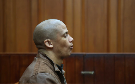 Mortimer Saunders sits in the dock as he waits for court to start. Saunders was arrested after the body of Courtney Pieters (3) was found in Epping Industria in May 2017. Picture: Bertram Malgas/EWN
