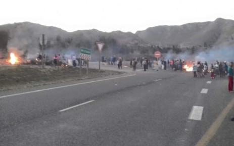 FILE: Disgruntled Botrivier residents block a section of the N2 highway during a demonstration on Wednesday. Picture: SAPS