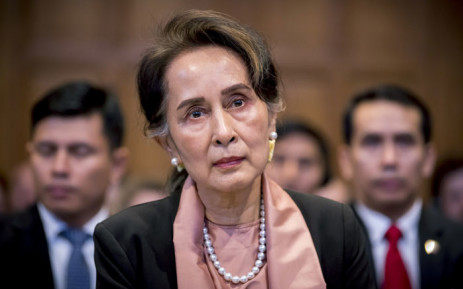 A handout photo released on 10 December 2019 by the International Court of Justice shows Myanmar's State Counsellor Aung San Suu Kyi attending the start of a three-day hearing on the Rohingya genocide case before the UN International Court of Justice at the Peace Palace of The Hague. Picture: AFP