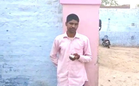 Pawan Kumar chopped off his index finger in desperation after voting for the wrong party in the country's national election. Picture: @912CroozeFM/Twitter.