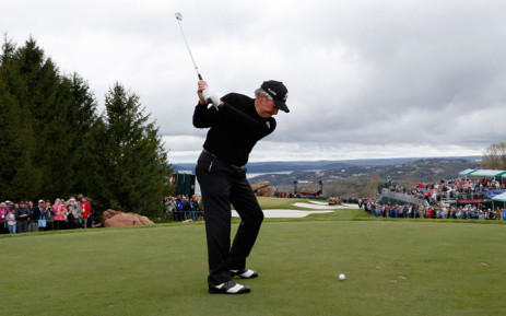 FILE: Gary Player hits his tee shot on the ninth hole during the Bass Pro Shops Legends of Golf Celebrity Shootout at Big Cedar Lodge held at Top of the Rock on 22 April, 2018 in Ridgedale, Missouri. Picture: AFP