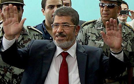 Deposed Egyptian President Mohamed Morsi. Picture: AFP.