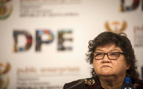 FILE: Former Minister of Public Enterprises Lynne Brown briefs the media on the state of Eskom at their offices in Woodmead. Picture: Thomas Holder/EWN