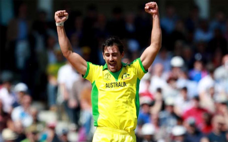 Australia Fast bowler Mitchell Starc. Picture: @cricketworldcup/Twitter