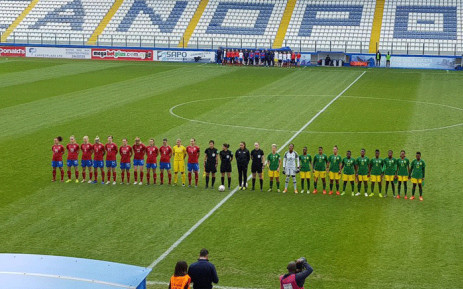 Banyana v Czech Republic in their final Group A match at the Cyprus Cup. Picture: @Banyana_Banyana/Twitter.