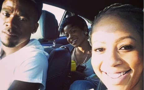 FILE: The last picture taken of soccer star Senzo Meyiwa with his lover and mother of his child Kelly Khumalo just hours before he was killed. Khumalo's sister Zandi Khumalo (back) is also seen in the photo. Picture: Kelly Khumalo via Instagram