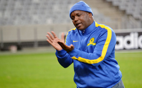 Sundowns coach Pitso Mosimane reacts during a game. Picture: Abed Ahmed/EWN
