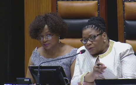 National Assembly Speaker Baleka Mbete and the chairperson of the National Council of Provinces Thandi Modise during President Jacob Zuma's State of the Nation Address on 9 February 2017. Picture: YouTube screengrab.