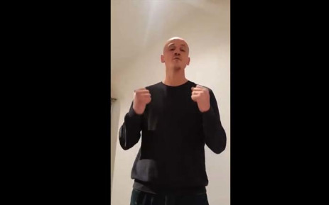 """A video grab made on 7 January 2019 shows former boxer Christophe Dettinger broacasting a message of apology for punching police officers during a """"yellow vest"""" protest in Paris. Picture: AFP"""