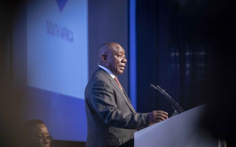 President Cyril Ramaphosa makes his acceptance speech at the IEC Results Operations Centre in Tshwane. Picture: Thomas Holder/EWN.