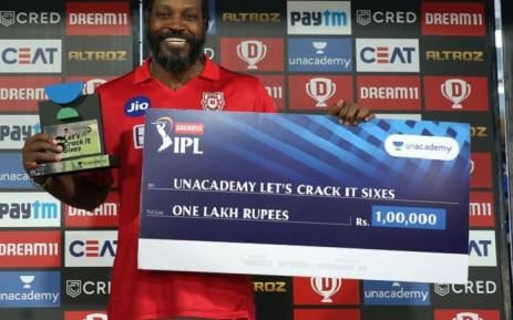 West Indies batsman Chris Gayle. Picture: @lionsdenkxip/Twitter