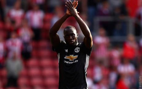 Manchester United's Romelu Lukaku applauds the fans after the match. Picture: @ManUtd/Twitter.