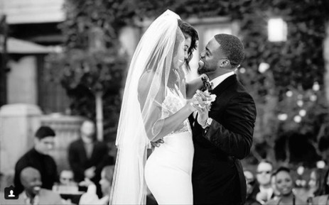 Kevin Hart and Eniko Parrish on their wedding day. Picture: @kevinhart4real/Instagram.