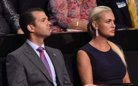 FILE: Donald Trump Jr and his then-wife Vanessa. Picture: AFP.