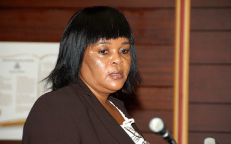 Sheryl Cwele,wife of Minister for State Security Siyabonga Cwele, is seen inside the Pietermaritzburg High Court where she is applying for bail, Friday, 5 February 2010.Cwele and Frank Nabolisa, a Nigerian arrested last month, face three charges. These are: dealing or conspiring to deal in drugs; procuring a woman called Charmaine Moss to collect drugs in Turkey; and procuring another woman, Tessa Beetge, to smuggle nine kilograms of cocaine from South America.Picture: Shan Pillay/SAPA