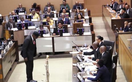 Premier David Makhura in the Gauteng legislature on 22 May 2019. Picture: @GautengProvince/Twitter