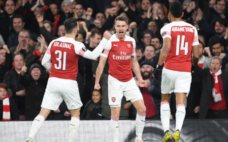 An Aaron Ramsey strike and a Kalidou Koulibaly own goal gave Arsenal a 2-0 victory over Napoli in the first leg of their Europa League quarter-final on 11 April 2019. Picture: Facebook.
