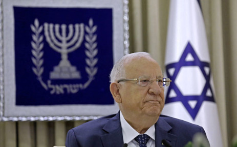 Israeli President Reuven Rivlin attends a consultation meeting with representatives of parties elected to parliament (Knesset) at his residence in Jerusalem on 5 April 2021, to hear who they would recommend as prime minister. Picture: Amir Cohen/AFP