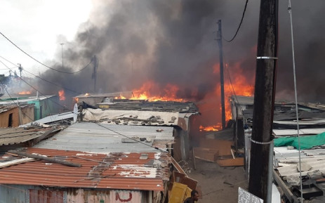 The cause of the Athlone blaze is under investigation. Picture: Jermaine Carelse (CoCT)/Supplied.