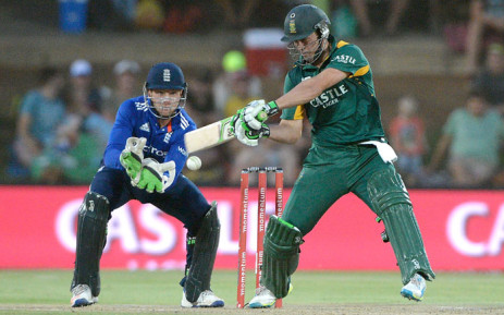 AB de Villiers from South Africa during the 1st One Day international Cricket match between South Africa and England at Mangaung Oval, Bloemfontein on 3 February 2016. Picture: Gerhard Steenkamp/Backpage Media.