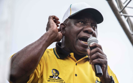 President Cyril Ramaphosa in Tembisa during an ANC election campaign trail. Picture: Abigail Javier/EWN