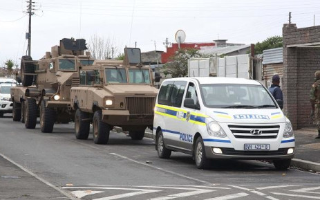 SAPS and members of the SANDF rolled into gang-ravaged communities in Cape Town. Picture: Bertram Malgas/EWN