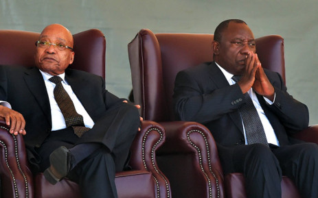 Former president Jacob Zuma and President Cyril Ramaphosa. Picture: GCIS