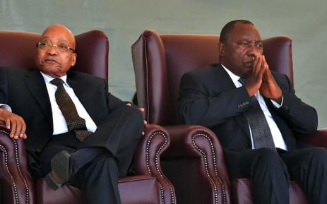 FILE: Former President Jacob Zuma and President Cyril Ramaphosa. Picture: GCIS.