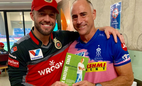 AB de Villiers and Paddy Upton