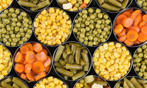 canned vegetables 123rf