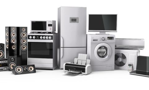 Home appliances stove tv refrigerator microwave laptop washing machine 123rf