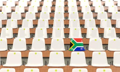 Empty stadium south african flag fans 123rf