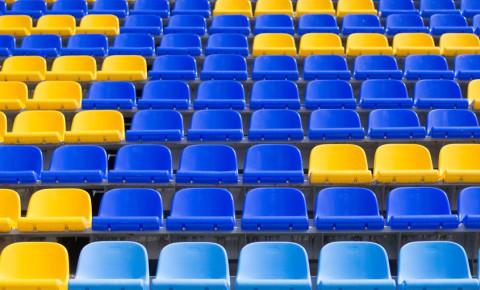 Empty stadium seats 123rf