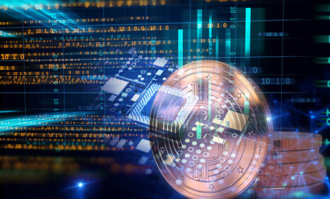 Crypto block chain technology, digital currency, exchange programs 123rf