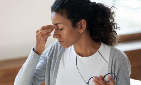 Woman feeling tired exhausted chronic fatigue 123rf
