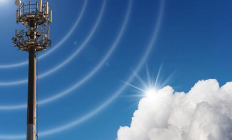 Telecommunications antenna tower for radio tv telephony 123rf