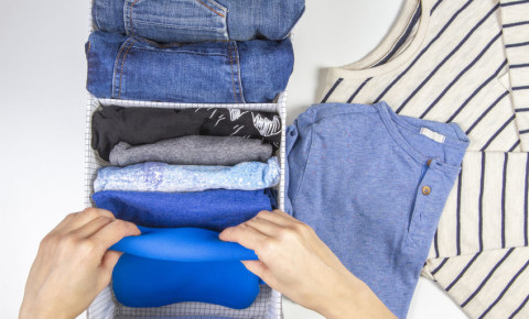 decluttering declutter tidying organising folded clothes clean room 123rf